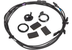 Frame and handlebar mounting cable for internal interface